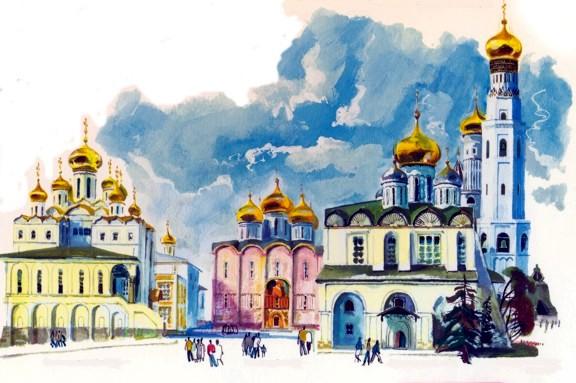 Соборная площади и Соборы Московского кремля