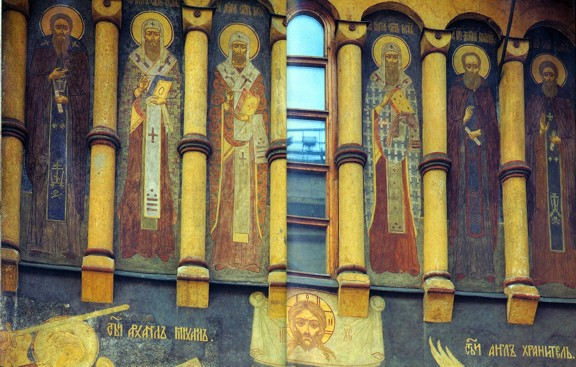 Роспись над северным порталом Успенского Собора