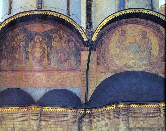 Фрагмент восточной стены Успенского Собора