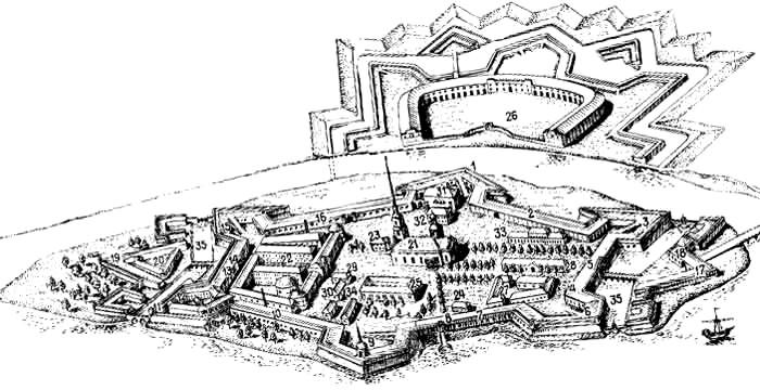 Петропавловская крепость План крепости
